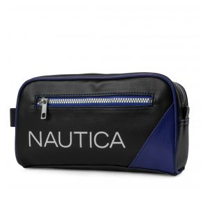 Nautica Mens Core Pebbled Travel Kit - Ice Blue Front View