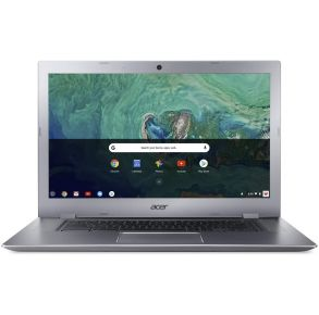 """Acer 15.6"""" Chromebook 15 CB315 Sparkly Silver Front View"""