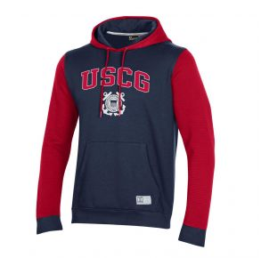 Coast Guard Under Armour Mens Game Day Terrain Hoodie Sweatshirt Front View