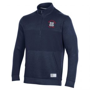 Coast Guard Under Armour Mens Game Day Half Zip Long Sleeve Shirt Front View
