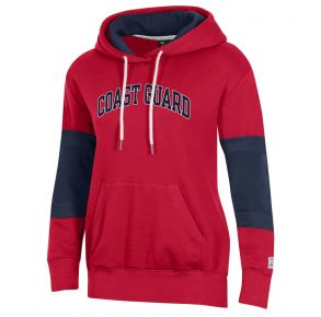 Coast Guard Under Armour Womens Game Day All Day Hoodie Sweatshirt Front View