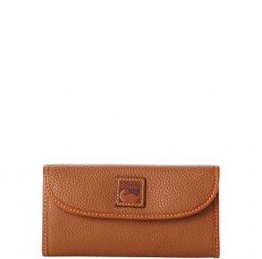 Dooney & Bourke Pebble Grain Continental Clutch - Caramel Front View