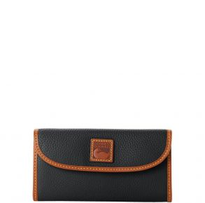 Dooney & Bourke Pebble Grain Continental Clutch - Black Front View