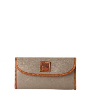 Dooney & Bourke Pebble Grain Continental Clutch - Taupe Front View