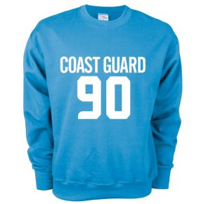 Coast Guard MJ Soffee Mens Soft Fleece Crew Sweatshirt Front View