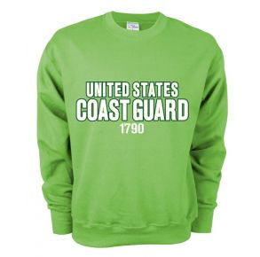 Coast Guard MJ Soffee Mens 1790 Soft Fleece Crew Sweatshirt Front View