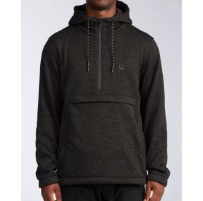 Billabong Mens Boundary Pullover Hoodie Black Heather Front View2