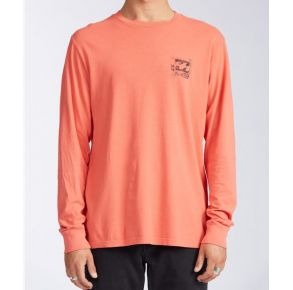 Billabong Mens Crayon Wave Long Sleeve T-Shirt Front View