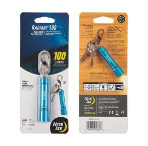 Nite Ize Radiant Keychain Flashlight - 100 Lumen - Blue Front of Package View