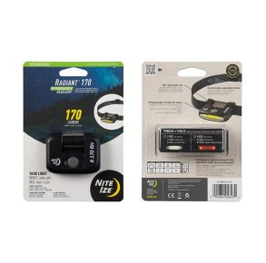 Nite Ize Radiant Rechargeable Headlamp - 170 Lumen - Black Front of Package View