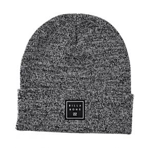 Billabong Mens Stacked Heather Beanie Black Front View
