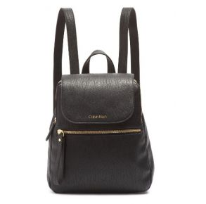 Calvin Klein Elaine Small Backpack - Black Front View