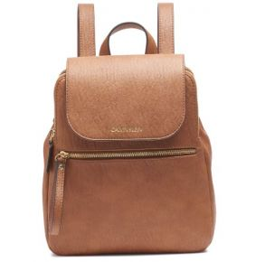 Calvin Klein Elaine Small Backpack - Caramel Front View