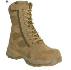"Rothco Mens 8"" Forced Entry Composite Toe AR 670-1 Coyote Brown Tactical Boot Left Side View"