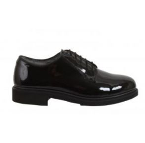 Rothco Mens Uniform Hi-Gloss Oxford Dress Shoe Left Side View