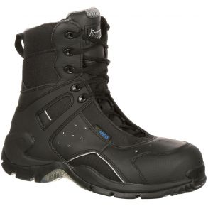 Rocky 1st Med Carbon Fiber Toe Puncture-Resistant Side-Zip Waterproof Public Service Boot Right View