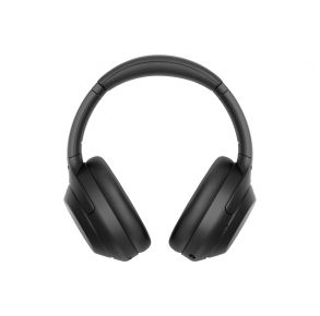 Sony WH-1000XM4 Wireless Noise-Canceling Headphones - Black Front View