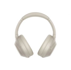 Sony WH-1000XM4 Wireless Noise-Canceling Headphones - Silver Front View