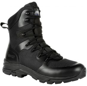 """Rocky Womens Code Blue 8"""" Public Service Boot Right Side View"""
