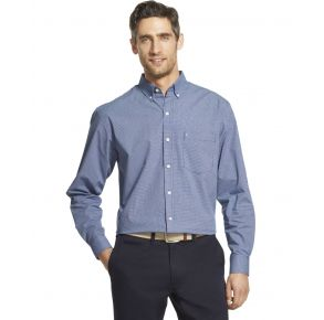 Izod Mens Premium Essentials Stretch Long Sleeve Button Down Shirt Front View