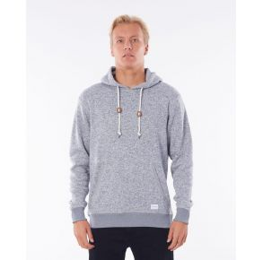 Rip Curl Mens Crescent Hood Hoodie - Grey Marle Front View