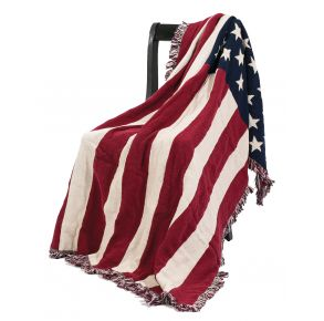 American Flag Afghan Throw