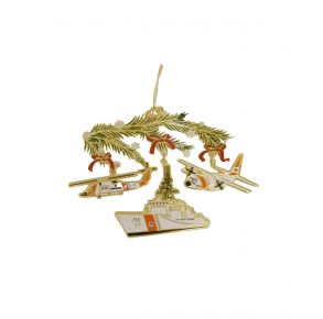 Coast Guard ChemArt Ornament - Holiday Security Icons Front View