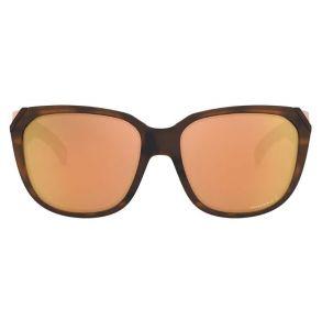 Oakley Womens Rev Up Matte Brown Tortoise Frame - Prizm Rose Gold Lens - Polarized Sunglasses Front View