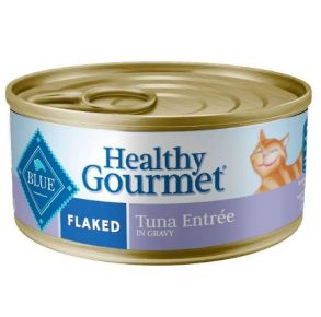 Blue Buffalo Healthy Gourmet Flaked Tuna Wet Cat Food Front View