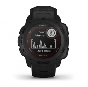 Garmin Instinct Solar Tactical Edition GPS Smartwatch - Black Front View