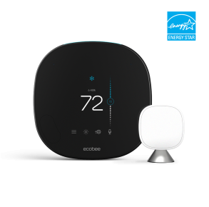 ecobee SmartThermostat with Voice Control Front View