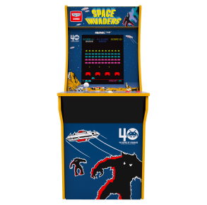 Arcade1Up Space Invaders Arcade Cabinet Front View