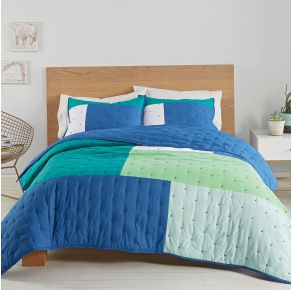 Utica Positive Vibes Quilt Set - King Front View