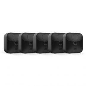 Blink Outdoor Wireless Weather-Resistant HD Security Camera with Motion Detection – 5 Camera Kit, Black Front View