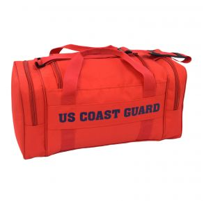 Coast Guard Duffle Bag - Orange Front View
