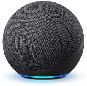 Amazon Echo 4th Gen with Premium Sound, Smart Home Hub, and Alexa - Charcoal Front View