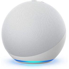 Amazon Echo 4th Gen with Premium Sound, Smart Home Hub, and Alexa - Glacier White Front View