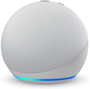 Amazon Echo Dot 4th Gen Smart Speaker with Alexa - Glacier White Front View