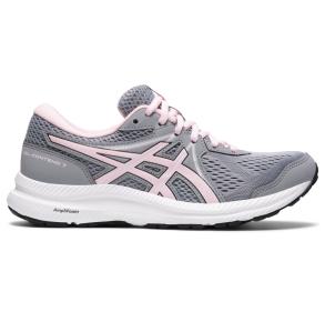 ASICS Womens GEL-CONTEND 7 Running Shoe Sheet Rock Grey/Pink Salt Right Side View