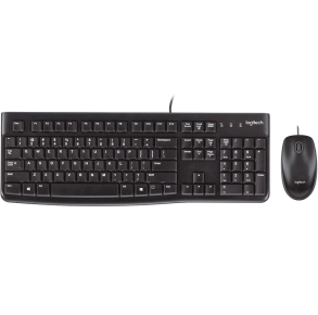 Logitech Desktop MK120 USB Keyboard and Mouse Combo Front View