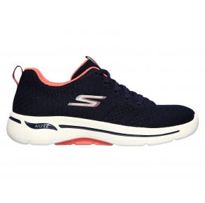 Skechers Womens GOwalk Arch Fit - Unify Shoe Navy/Coral Right Side View
