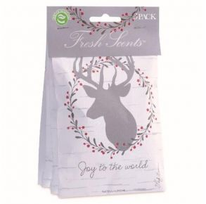 Willowbrook Fresh Scents Sachet - Joy to the World - 3 Pack Package Front View