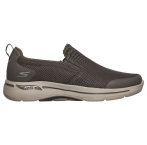 Skechers Mens GOwalk Arch Fit - Togpath Shoe Taupe Right Side View
