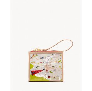 Spartina 449 Greetings From Bay Dreams Clear Beach Wristlet Front View