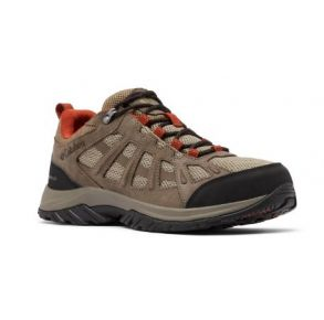 Columbia Mens Redmond III Low-Top Waterproof Wide Hiking Shoe Quarter Side View
