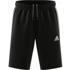 adidas Mens Designed 2 Move 3-Stripes Primeblue Shorts Black/White Front View