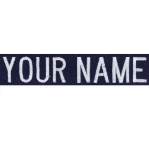 Vanguard Coast Guard Name Tape: Individual- Name Ripstop Blue Embroidered Front View