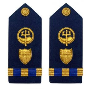 Vanguard Coast Guard Warrant Officer 3 Male Shoulder Board: Marine Safety Response Front View