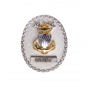 Vanguard Coast Guard Breast Badge: E-9 Senior Advisor - Regular Size Front View