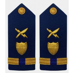 Vanguard Coast Guard Warrant Officer 4 Male Shoulder Board:  Intelligence Systems Front View